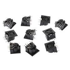 10 Pcs/Set PCB Panel Mount Female Connectors DIN5 DIN 5-Pin Jack MIDI DS-5-01