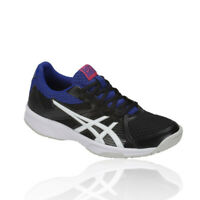 Asics Womens Gel-Upcourt 3 Indoor Court Shoes Black Blue Sports Breathable