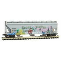 ACFX Christmas Seasons Greetings 3-Bay Covered Hopper MTL #093 44 150 N Scale