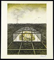 Neuer Realismus, 1980. Farbradierung Bettina VON ARNIM (*1940 D), handsigniert