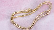 "Mens 14 Carat Diamond Tennis Necklace Chain 26"" 14k Yellow Gold Dealer Price"