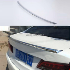 ABS FIT For 2015- 2018 Acura TLX Chrome Rear Tail Trunk Spoiler Wing Lip Trim