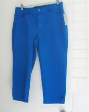 NYDJ Not Your Daughter's Jeans Crop Capri Pants Olympia Blue Sz 14 - NWT
