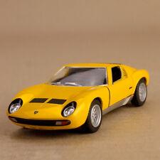1971 Lamborghini Miura 9700 SV Yellow 1:34 Scale 12cm Die-Cast Pull-Back Mod Car