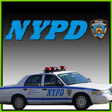 NYPD Logo Aufkleber SET US Car Police Polizei New York City SWAT  N.Y.P.D.