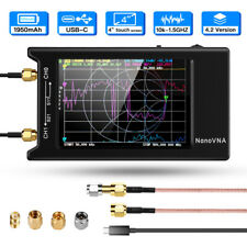 NanoVNA 10k-1.5GHz Network Antenna Vector Analyzer VHF UHF LCD 4'' Standing Wave
