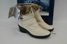 $170 Pajar Nadia Low womens beige faux fur nylon winter wedge boots size 11/41