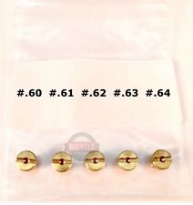 "**5 JETS**  ""Low 60's""  5mm Jets for Motorized Bicycle - Fine Tuning Jet Set"