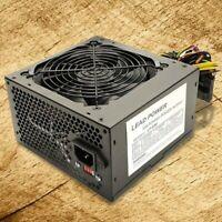 BRAND NEW Lead Power Black 650w MAX ATX Power Supply 12cm Fan 20+4Pin SATA PCIe