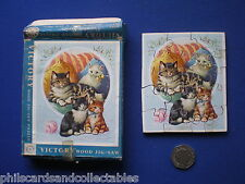 Vintage VICTORY Plywood JigsawPuzzle - ' Kittens '  20 Pieces  1950s/60s