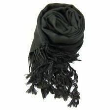 Bufandas y pañuelos de mujer de viscosa sin marca color principal negro