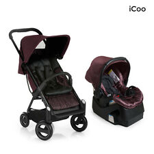 I'coo Acrobat and IGuard35 Travel System in Fishbone Bordeaux Brand New!  Icoo