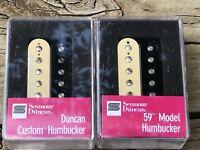 Seymour Duncan Custom SH-5 Bridge / SH-1n 59 Neck Pickup Set - Zebra