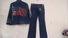 NWT AN FOR ME SIZE 29 JEAN PANTS & M JACKET OUTFIT NEW YEAR 4TH JULY STYLE $1414