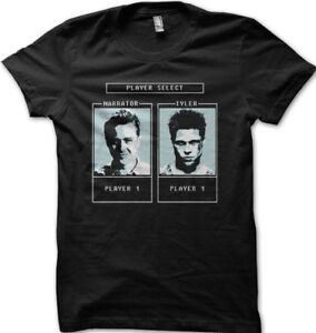 Fight Club Tyler Durden Character selection game printed t-shirt 9129