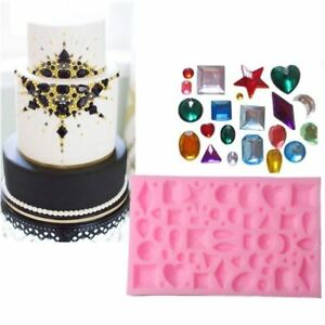 Silicone Diamond Gem Jewel Mold Fondant Chocolate SugarCraft Cake Decor Mould