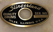 DRUM BADGE- 1962-1970 Slingerland Niles Black & Brass Badge Repro