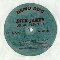 Unreleased Dick James acetate Harry Barter 60s Lazy Hot Sunday Cook & Greenaway