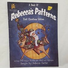 Rebecca's Patterns Clip Art Wood Booklet Applique Provo Craft 1996 Christmas