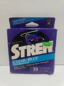 Stren Clear/Blue Fluorescent 10 pound test  330 Yds Super Limp, Low Memory Z5