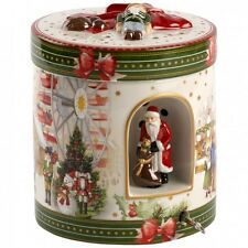 Villeroy & Boch CHRISTMAS TOYS Christmas Market Round Large Gift/Music Box #6508