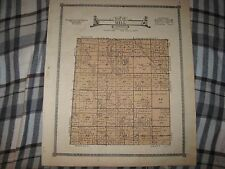 Antique 1921 Mill Township Lancaster County Nebraska Map Detailed Superb