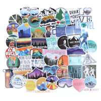 50Pcs Interesting Outdoor Adventure Sticker Suitcase Laptop Guitar Bicycle Decal