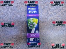Oral-B Cross Action White Replacement Brush Heads 4 Pack NEW/SEALED FREE SHIP