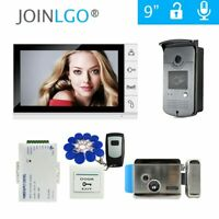 "9""  Video Door Phone Intercom System RFID keys Doorbell Camera+ Electric Lock"