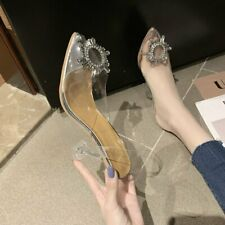 Women Summer Crystal Pumps Transparent Stiletto Party Shoes High Heels Stiletto