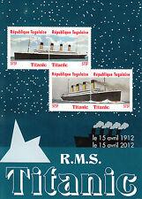 Togo 2012 MNH Titanic 100 Year Anniv 4v M/S Boats Ships Stamps