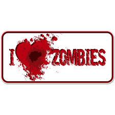 "I Heart Zombies car bumper sticker decal 6"" x 3"""