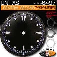 DIAL FOR MOVEMENT ETA UNITAS 6497 CENTRAL SECOND- OR NO SECOND HAND, TACHYMETER!