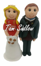 Personalised bride and groom Football Theme Wedding Cake Toppers