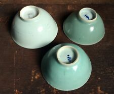 ANTIQUE CHINESE LONGQUAN CELADON BOWLS -3 Bowls- JUST FOUND -1st Time Offered!