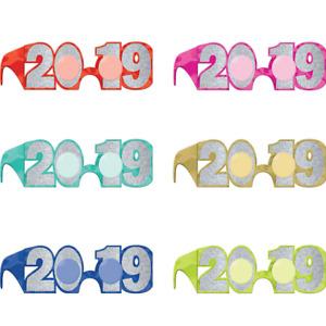 (2) Glitter Colorful 2019 Glasses 6ct - 1 Dozen total-  Free Ship