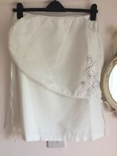 Animal Linen White Skirt Size M 12 14