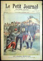 Le Petit Journal N°411 du 2/10/1898 Le Duc de Connaught essayant un sac de solda
