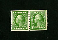 US Stamps # 443 VF OG NH Pair 1 Nibbled Perf Scott Value $160.00