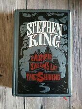 Stephen King Three Novels, Carrie, 'Salem's Lot, & The Shining, 2011 1st Ed. H/C