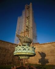 Statue of Liberty flame and torch platform removed for repair - New 8x10 Photo