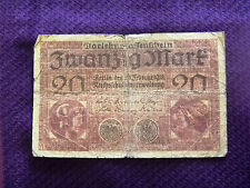 20 mark 1918 Germany banknote free shipping