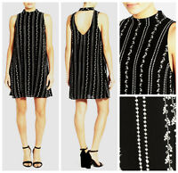 BOHO CHIC  WAY- IN  EMBROIDERED OPEN  BACK  SHIFT DRESS   NEW  Nordstrom