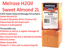 MELROSE Sweet Almond H2Oil Water Dispersable Massage Oil 2L Cask ( 2 Litre Pack)