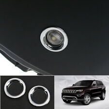 Chrome Rear Tailgate Reading Light Cover 2PCS For Jeep Grand Cherokee 2011-2019