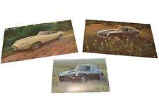 (3) Jaguar E-TYPE Vintage 1971 Postcard / Brochure / Literature NOS XKE Series 2