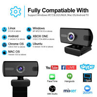 Webcam HD 1080P USB 2.0 Web Camera For PC Laptop Desktop W/ Microphone Web Cam w