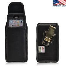 Turtleback iPhone SE 5 5s 5c Leather Vertical Holster Metal Clip Otterbox Case