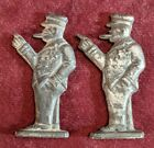 Antique Toy Soldiers Winston Churchill Metal Miniature Figures England (PAIR)