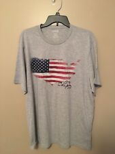 Chaps Men T-shirt Size M Color Gray With America Flag NWT